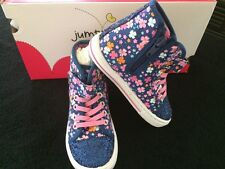 Nwb | Jumping Beans | Floral High Top Tennis Shoes Size 9 (toddler)