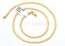 Damen/Herren Halskette 45cm x 2mm, 750 Gold /18Karat vergoldet 1208
