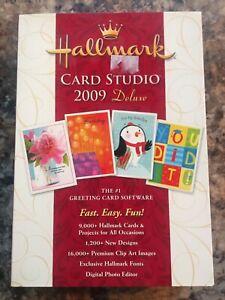 New Hallmark Card Studio 2009 Deluxe, Windows PC Computer Greeting Card Software