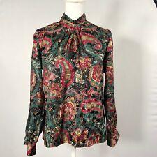 411e9f19 Notations Petite Women Blouse Paisley Long Sleeve Top Shirt Size 8 Floral -  D28