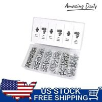 110 Pc sae Hydraulic Lubrication Lube Grease Fittings Assortment Zerk Fitting