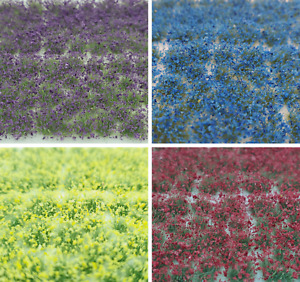 Self Adhesive Static Grass Tufts for Miniature Scenery -Mix Wildflowers-4mm