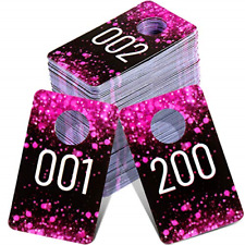 Live Plastic Number Tags 001 200 Consecutive Number Normal And Reverse Mirror
