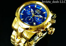 Invicta Men's 54mm VENOM Swiss Chronograph Blue Dial Gold Tone Bracelet SS Watch