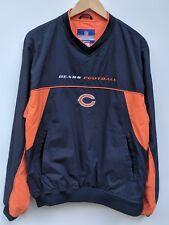Reebok On Field NFL Chicago Bears Size M V-Neck Windbreaker Pullover Jacket