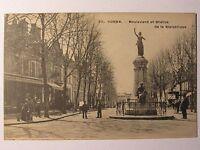 07D49 CPA Tarjeta Postal - Cosne - Bulevar y Estatua de la República - Animada