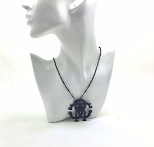 "Roberto Cavalli Perfume Long Black Pendant Necklace, 39""/99cm"