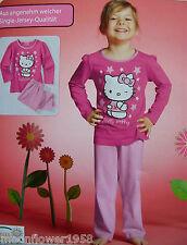 NEU Mädchen Schlafanzug Hello Kitty Nachtwäsche Pyjama Nightwear Girls 122/128