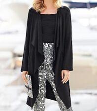 Kaleidoscope black Tencel waterfall jacket size UK 12 Generous fit RRP £59.99