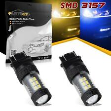 2pcs 3157 4114 Switchback Blue Amber Led Front Turn Signal Light Off-Road use