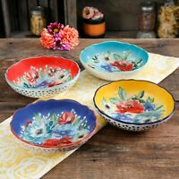 4-Piece Pasta Bowl Set The Pioneer Woman Melody Soup Salad Bowls Beautiful New