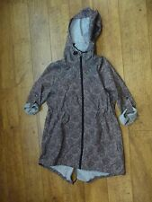 Brown patterned Women's primark hooded rain coat Size Small