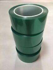 """1mil High Temp Green Polyester Masking Tape for Powder Coating- 2"""" x 72yds"""