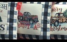 Christmas throw pillow covers Farmhouse Buffalo Plaid Leopard Christmas
