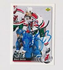 92/93 Upper Deck Bruce Driver New Jersey Devils Autographed Hockey Card