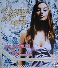 "DARINE ""MA RULEZ"" THAILAND PROMO POSTER-Sexy Arab Pop Music Star, Aiwa, Ja Leili"