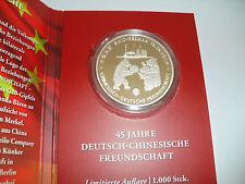 China Panda 45. Jahre Deutsch-Chinesische Freundschaft nur 1.000 Auflage! RAR