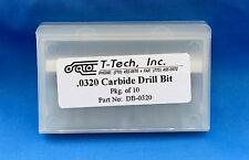 T-Tech Carbide Drill Bit (DB-0320) 0.0320 Qty 10 same as LPKF