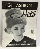 1961 High Fashion Hats Pattern Book Vol.62 Knit Crochet Fashion Accessory 3286F