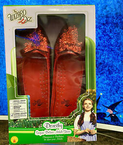 Rubie's Women's Wizard of Oz, Deluxe Adult Dorothy Sequin Shoes, Red, Large/9-10