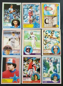 1983 OPC lot of 47 diff cards O-Pee-Chee Topps Canada Raines Yaz Palmer Bench
