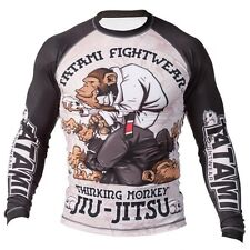 Tatami Thinker Monkey BJJ Mens Rash Guard Long Sleeve BJJ NO GI Rashguard MMA