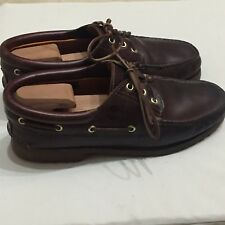 Timberland Mens 50009 Authentic 3-Eye Classic Lug Boat Shoes Brown Size 10.5B