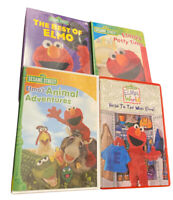 Elmo DVDs Animal Adventures, Head to Toe, Potty Time & Best of Elmo Lot of 4