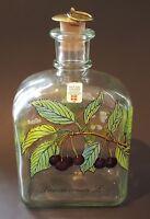 Holmegaard clear glass vintage Art Deco antique Prunus avium decanter