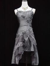 Cherlone Übergröße Grau Cocktailkleid Ballkleid Abendkleid Brautjungfer Kleid 46