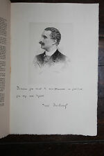 1900 Mariani Uzanne Biographie Paul Deschanel politique eau-forte autographe