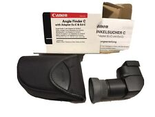 Canon Angle Finder C with Finder Adapters Ec-C and Ed-C Box And Instructions