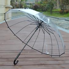 Regenschirm Glockenschirm transparent durchsichtig Stock Schirm Automatik groß