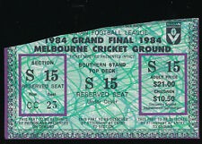 1984 Grand Final Unused Ticket Hawthorn vs Essendon Bombers won