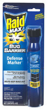 NEW! RAID MAX Bug Barrier Defense Marker Repellent Deltamethrin Spray 4 oz 75139