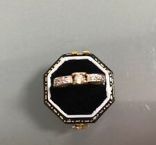 Vintage Women's 9ct Gold Diamond Cluster Ring Size M Weight 3.26g Stamped