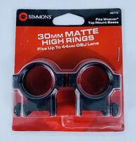 Simmons Weaver Mount Ring Pair 49175 30mm Aluminum High Matte Black BRAND NEW