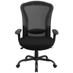 Big & Tall Black Mesh Synchro-Tilt Swivel Ergonomic Office Chair 24/7 400 lb.