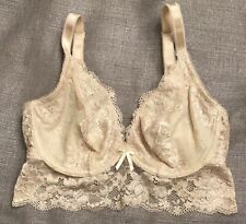 Pour Moi? 32F Lace Longline Underwire Bra 1501 Blush Pink Ivory