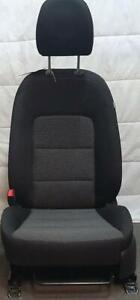 KIA CERATO YD FRONT SEAT LH  BLACK/GREY CLOTH, 04/13-05/18