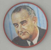 "1964 LBJ FOR THE USA, Lyndon Johnson VERI-VUE FLASHER Political Campaign Pin 3"""