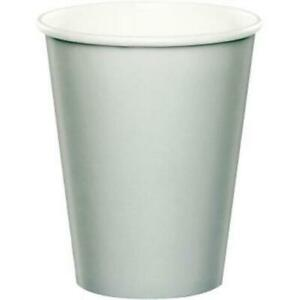 Silver 9oz Paper Hot/Cold Cups 24 Per Pack Tableware Decorations Party Supplies