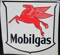 "Mobil Gas Decals / Mobilgas / Mobil Gas Pegasus Oil Vinyl Decal 8.5"" x 9.5"" /"