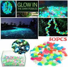 50pcs Glow in The Dark Pebbles Luminous Stones Rocks For Garden Aquariums Decor