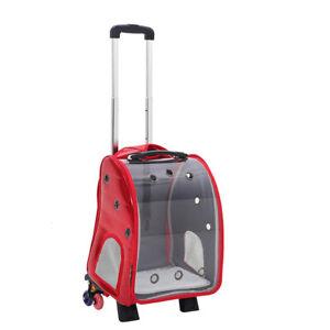 Portable Pet Travel Bag Cat Puppy Dog Carrier Rucksack Stroller Backpack Trolley