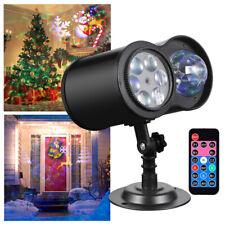LED Laser Projektor garten licht weihnachts beleuchtung deko party außen innen
