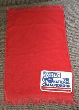 1981 Pba National Championship Bowling Ball Towel pro used Toledo Trust Bank Old