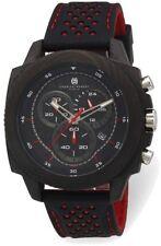 Charles Hubert Fibra de Carbono Funda Cronógrafo Rojo Correa Reloj