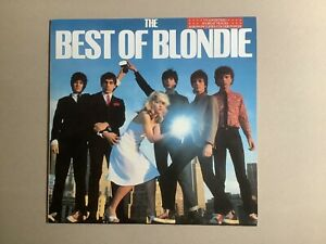 """BLONDIE THE BEST OF BLONDIE 12"""" LP VINYL ALBUM + POSTER DEBBIE HARRY"""