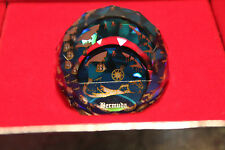 Swarovski Crystal Round Ball 40mm Paperweight 9406 NR 40 Bermuda OLD Map MINT